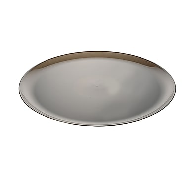 Fineline Settings Platter Pleasers 8401 Classic Round Tray, Smoke