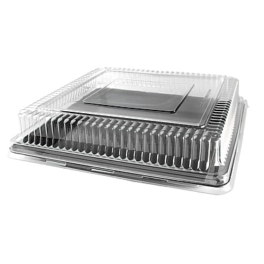 Fineline Settings Platter Pleasers 9541-L Clear Square PET Dome Lid