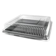 Fineline Settings Platter Pleasers 9522-L Clear Square PET Dome Lid