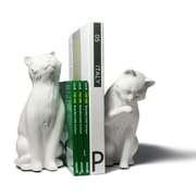 Danya B CSK8022B Cat Bookend Set, White by