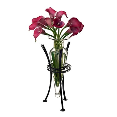 Danya B MC750-C Amphora Vase with Wire Stand, Clear