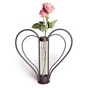 Danya B QB106 Iron Heart-shaped Sweetheart Bud Vase, Clear