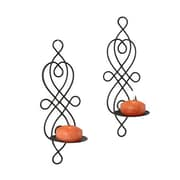 Danya B QBA516 Twisted Wire Wall Sconces Set of 2, Black