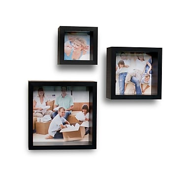 Danya B Wood Wall Cube Shelf Photo Frame, 3/Set (YU061)