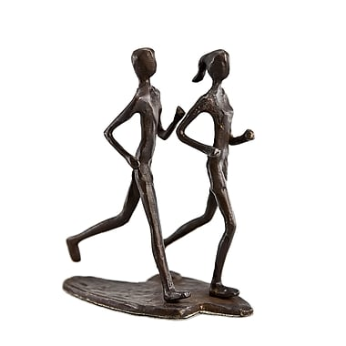 Danya B ZD12170 Couple Jogging Bronze Sculpture