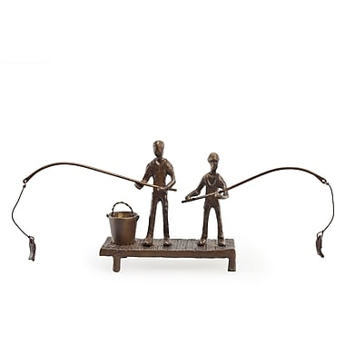 Danya B ZD13013 Children Fishing Bronze Sculpture