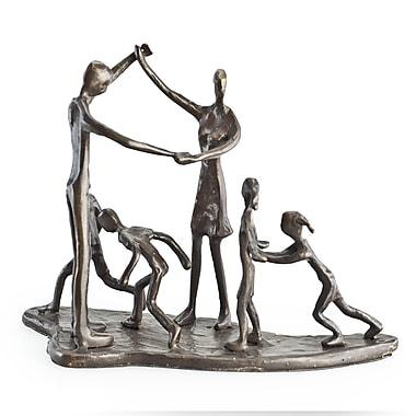 Danya B ZD13017 Children & Parents at Play Bronze Sculpture