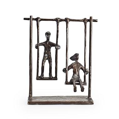 Danya B ZD4146S Children on Swings Bronze Sculpture
