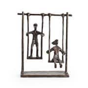 Danya B ZD4146S Children on Swings Bronze Sculpture