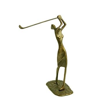 Danya B ZD484 Female Golfer Cast Bronze Sculpture