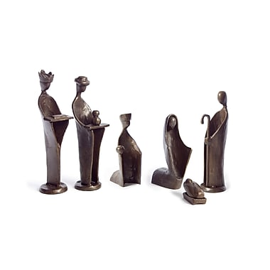 Danya B ZD5108L 6 Piece Mini Nativity Set, Bronze Sculpture