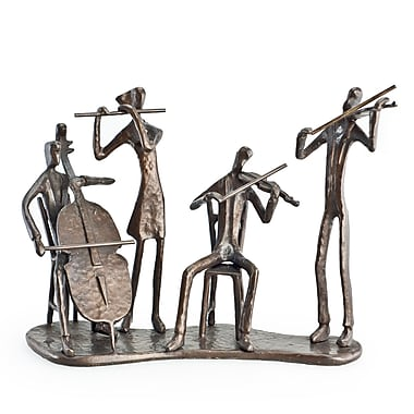 Danya B ZD6228S Musician Quartet on Base Bronze Sculpture