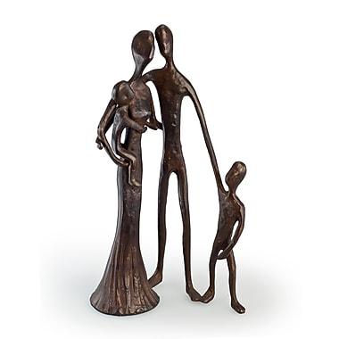 Danya B ZD6780 Family of Four Cast Bronze Sculpture
