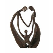 Danya B ZD8136 Family of Three Cast Bronze Sculpture