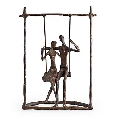 Danya B ZD9022 Couple on a Swing Cast Bronze Sculpture