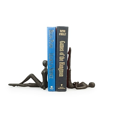 Danya B ZI11217 Ladies Stretching Metal Bookend Set, Brown/Gold