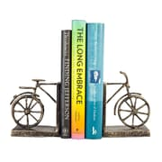 Danya B ZI12031 Bicycle Iron Bookend Set, Brown/Gold by
