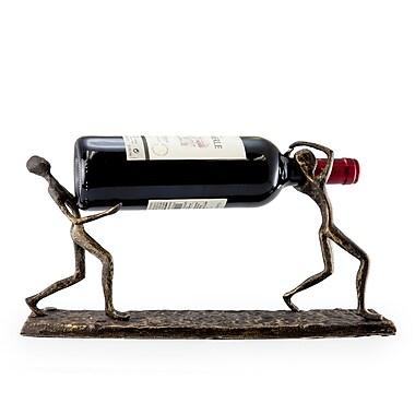 Danya B ZI7237 Two Men Carrying a Bottle Metal Wine Holder