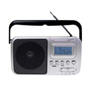 Supersonic® SC-1091 4 Band AM/FM/SW Radio With Digital Display, Silver/Black