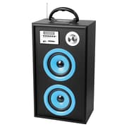 Supersonic® SC-1300K Portable Rechargeable Speaker With Karaoke/FM Radio, Blue