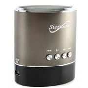 Supersonic® SC-1324 1.87 Portable Rechargeable MP3 Speaker With FM Radio/LED Display, Grey