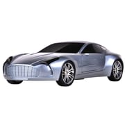 Supersonic® SC-1315 Portable Rechargeable Car Speaker With USB/Mini SD/Aux In/FM Radio, Silver