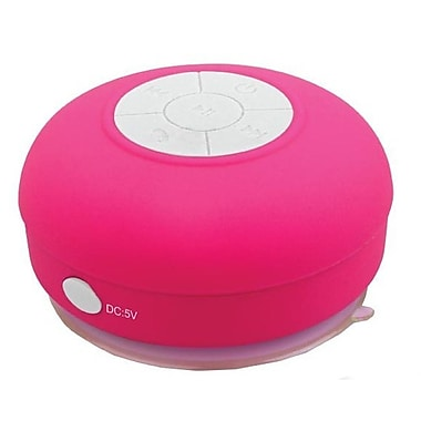 Supersonic® SC-1364BT Portable Bluetooth Rechargeable Shower Speaker, Pink