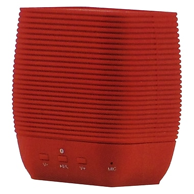 Supersonic® SC-1362BT Portable Bluetooth Rechargeable Speaker With Micro SD Card Slot, Red