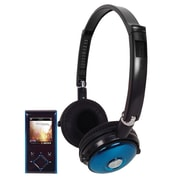 "Supersonic® IQ sound® IQ-8012 1.8"" MP3/MP4 Video Playing and Stereo Headphones, Blue"