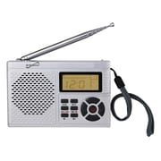 Supersonic® SC-1101 AM/FM/TV Pocket Radio, Silver