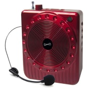 Supersonic® SC-1369 Portable PA System With USB, Micro SD and FM Radio, Red