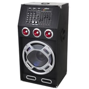 "Supersonic® IQ-3025DJ 15"" Professional Active Speaker With Bluetooth/USB/SD/MIC In/FM Radio, Black"