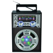 Supersonic® SC-1353 Professional Active Speaker With Disco Light, Silver
