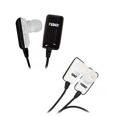 Naxa NE-928 Bluetooth Wireless Earbud with Mic, Black/White