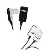 Naxa NE-928 Bluetooth Wireless Earbud with Mic, Black/White