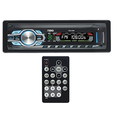 Naxa® NCA-609 In-Dash MP3 Player and Receiver With Detachable Faceplate