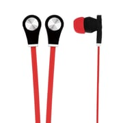 Naxa vector NE-933 Isolation Earphone with Flat-Ribbon Cable, Red