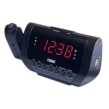 Naxa 93586504M Digital Dual Alarm Clock Radio with USB Charge Port, Black