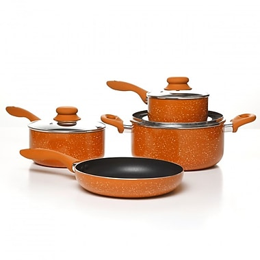 Simplemente Delicioso Casa Balboa 7 Piece Cookware Set, Orange
