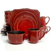 Gibson Ashbury Dinnerware Set, 16 Piece, Red