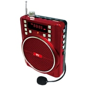 QFX® CS-84 Portable PA System With 1200 mAh Battery, Red