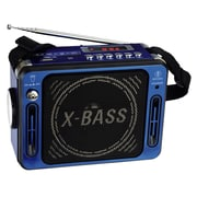 QFX® CS-151 Karaoke Multimedia Speaker With FM Radio, Blue