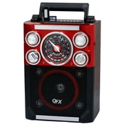 QFX® CS-144 Karaoke Multimedia Speaker AM/FM/SW1-2 Band, Red