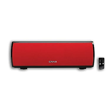 Craig® Stereo Speaker Bar With Bluetooth Wireless Technology, Red