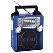 QFX® CS-152 Multimedia Speaker With FM/AM/SW 1-9 11 Band, Blue