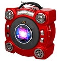 QFX® CS-153 Portable Speaker With AM/FM/SW 1-2 4 Band Radio, Red