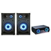 "QFX® HE-81520 High End Speakers With LED Disco Light and Amplifier, 15"" Woofer"