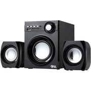 QFX® BT-203 10 W 2.1 Channel Wireless NFC Bluetooth Desktop Speaker System, Black