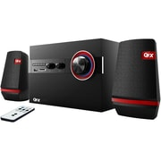 QFX® 93587091M 2.1 Channel Bookshelf Bluetooth Speaker System With AM/FM Radio
