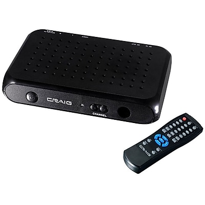 Craig CVD508 Digital To Analog Broadcast Converter With Remote Control